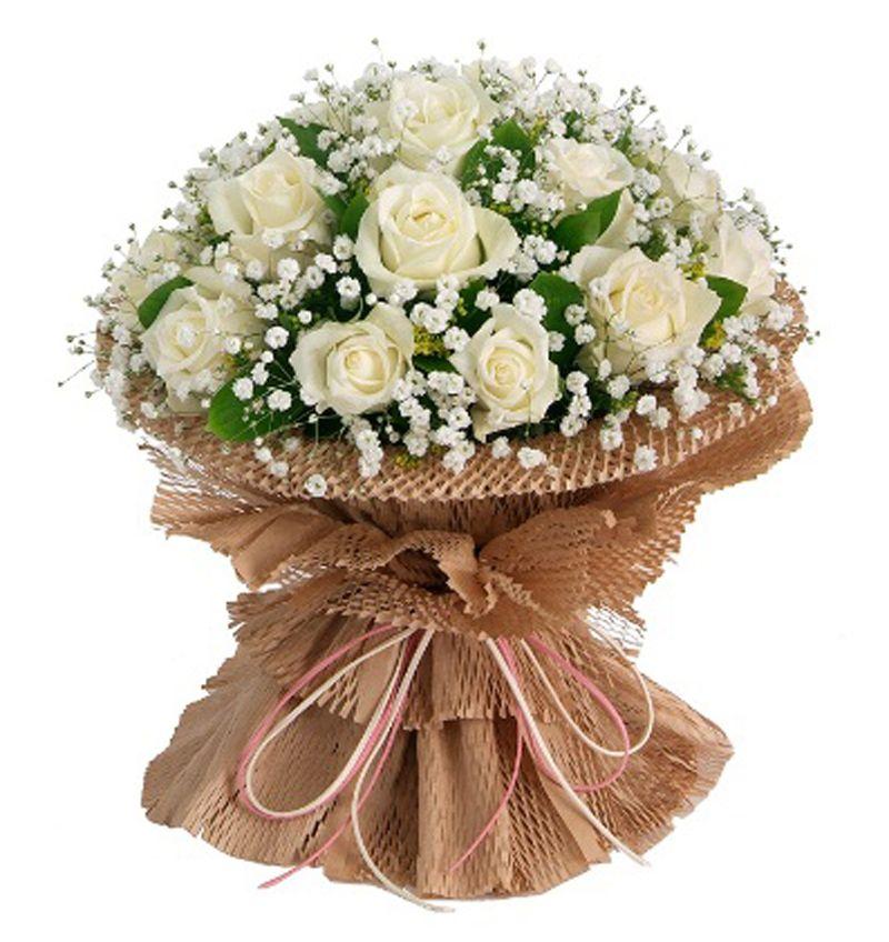 20 White Rose Bouquet Indoor Plants In Uae Order Flower Online Anniversary Wedding Flowers