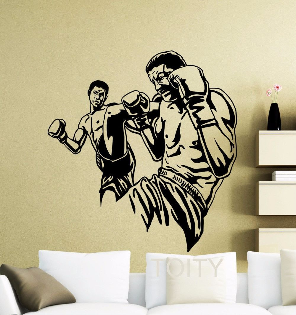 Mma Ufc Fighters Poster Wall Art Sticker Extreme Fight Sport