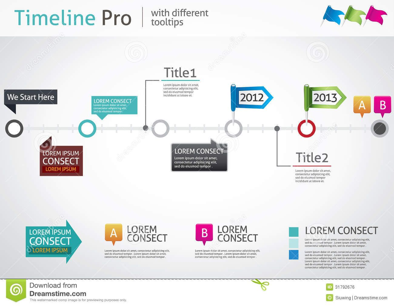 Timeline Pro - Different Tooltips Royalty Free Stock Image - Image ...