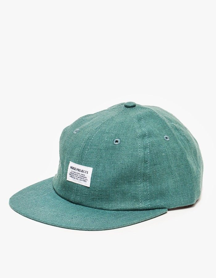 c5a6580a1ae Norse Projects   Linen Flat Cap in Pale Teal