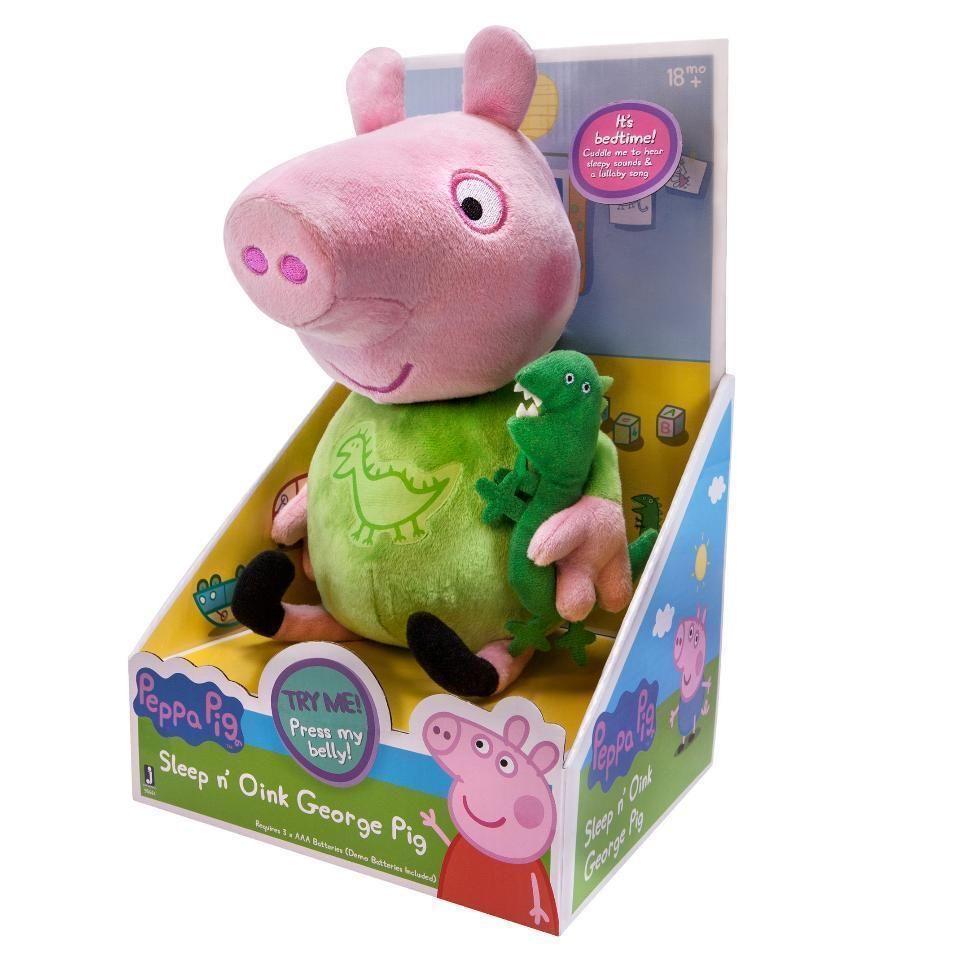 Details About Peppa Pig Sleep N Oink George 12 Inch Plush Slumber