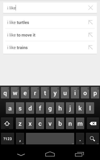 If you search something the results could be an example of anaphora.