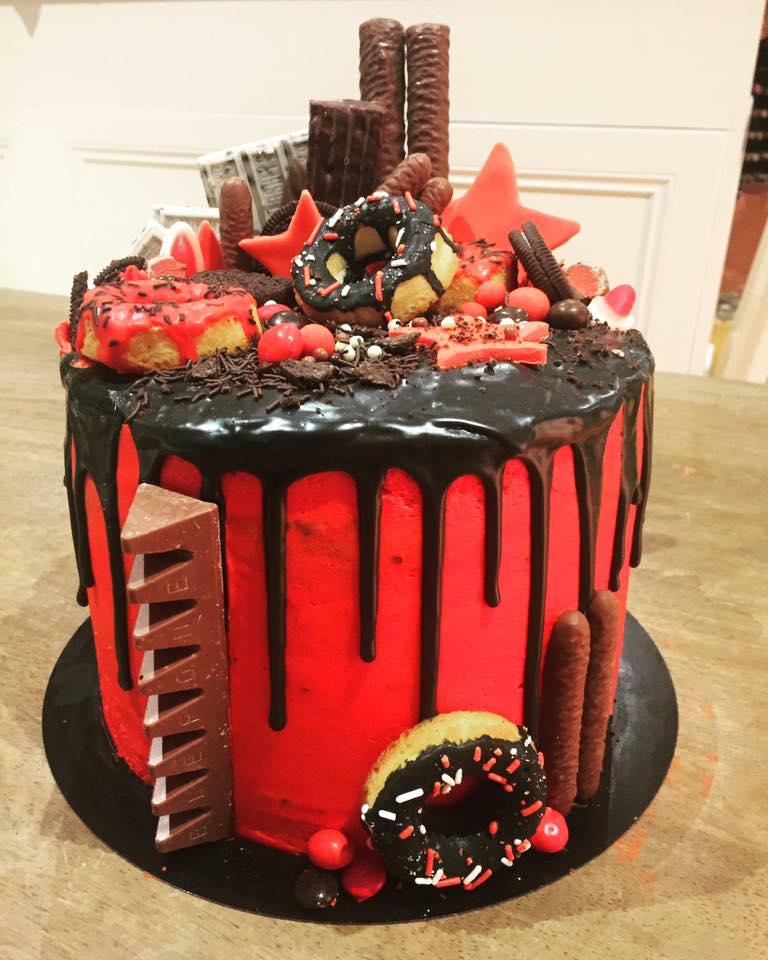 Drip cake chocolate mint indulgence.   Cake, Drip cakes ...