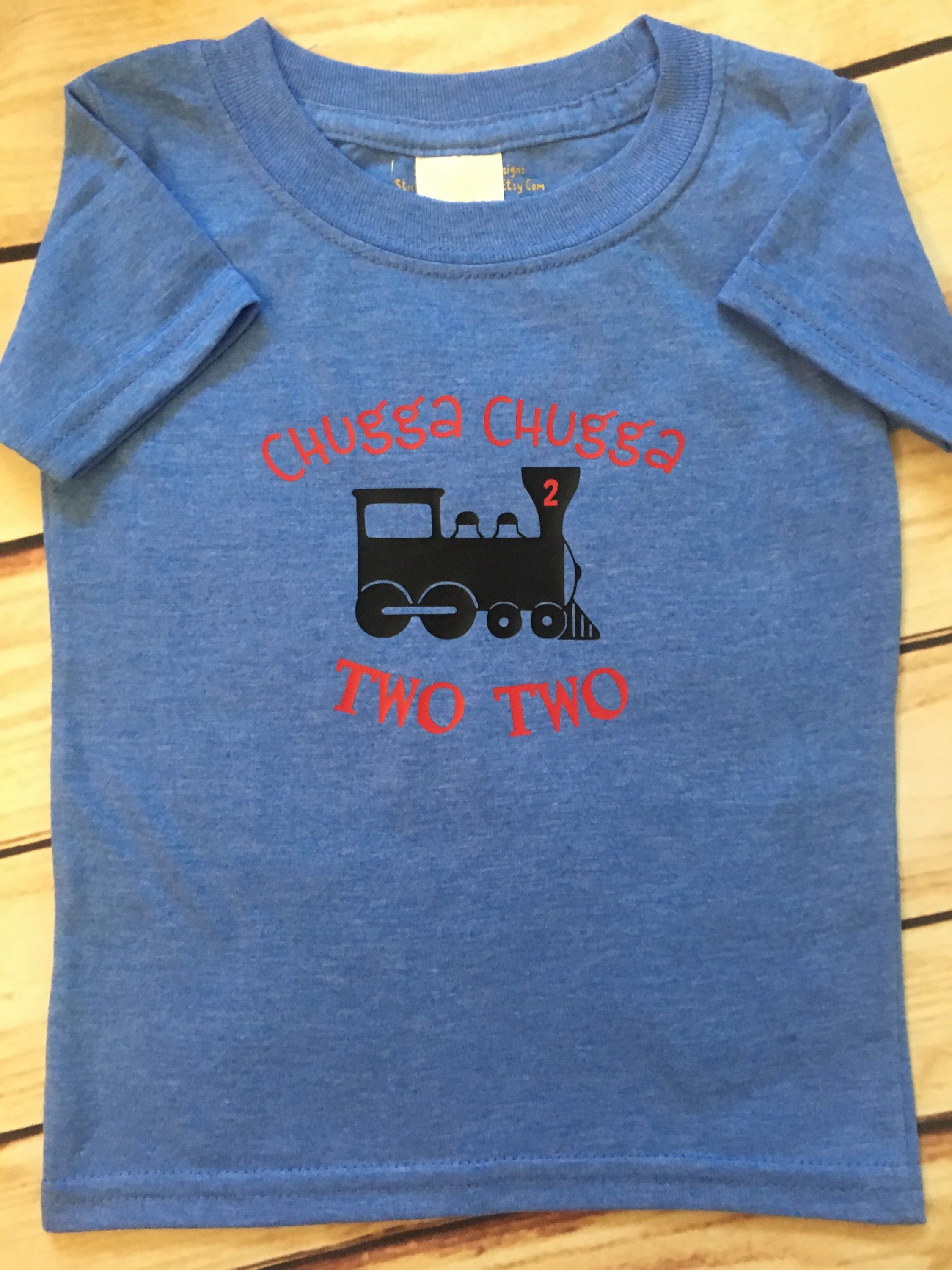 2nd Birthday Train Shirt Second Boy 2 Year Old Party Two By StickyMommaDesigns On Etsy