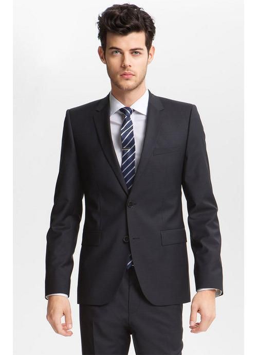 Solid Notch Lapel Two Buttons Black Prom Suit 2013 | Prom 2014 ...