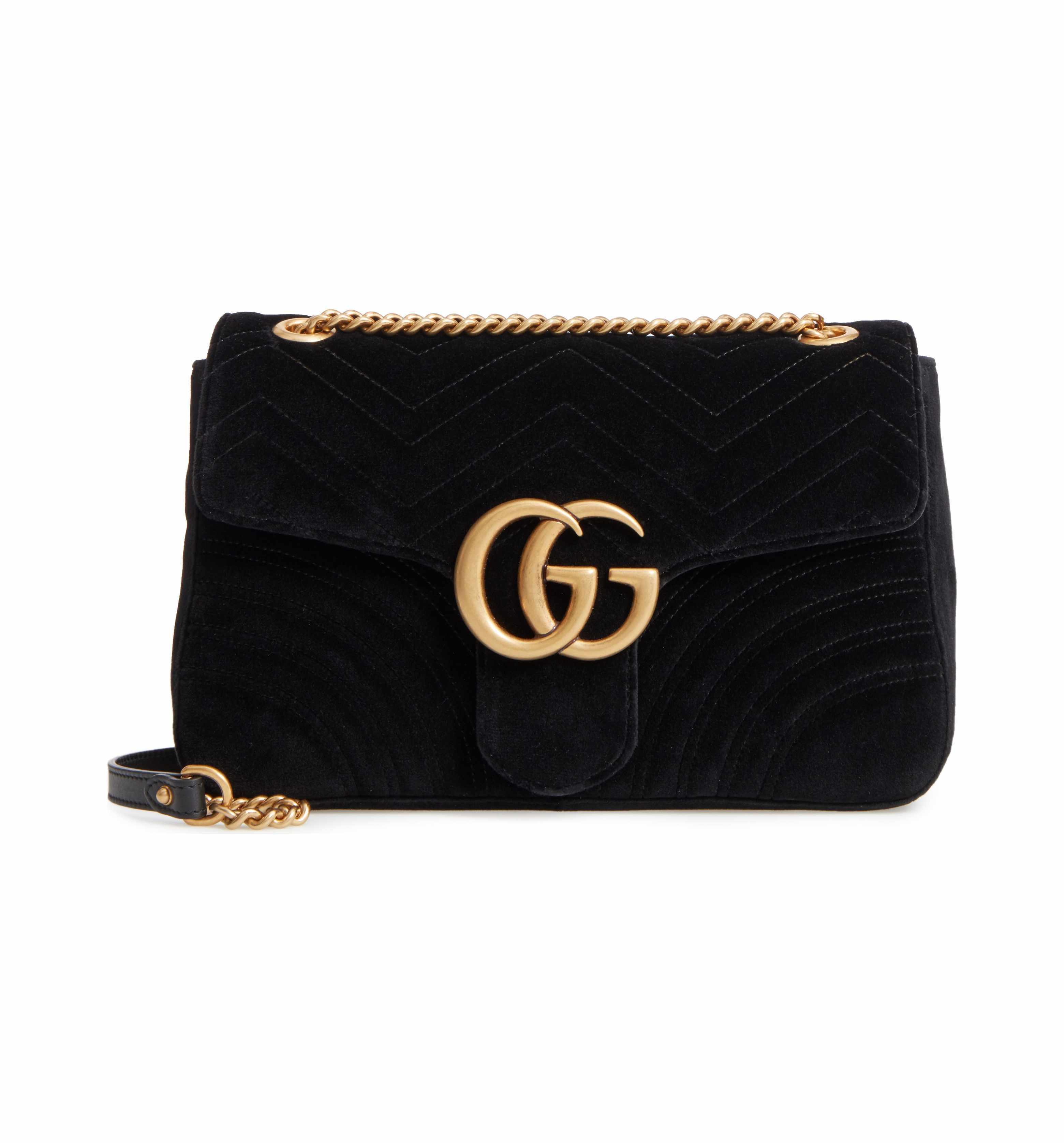 486c1da1cc6b3b Main Image - Gucci Medium GG Marmont 2.0 Matelassé Velvet Shoulder Bag