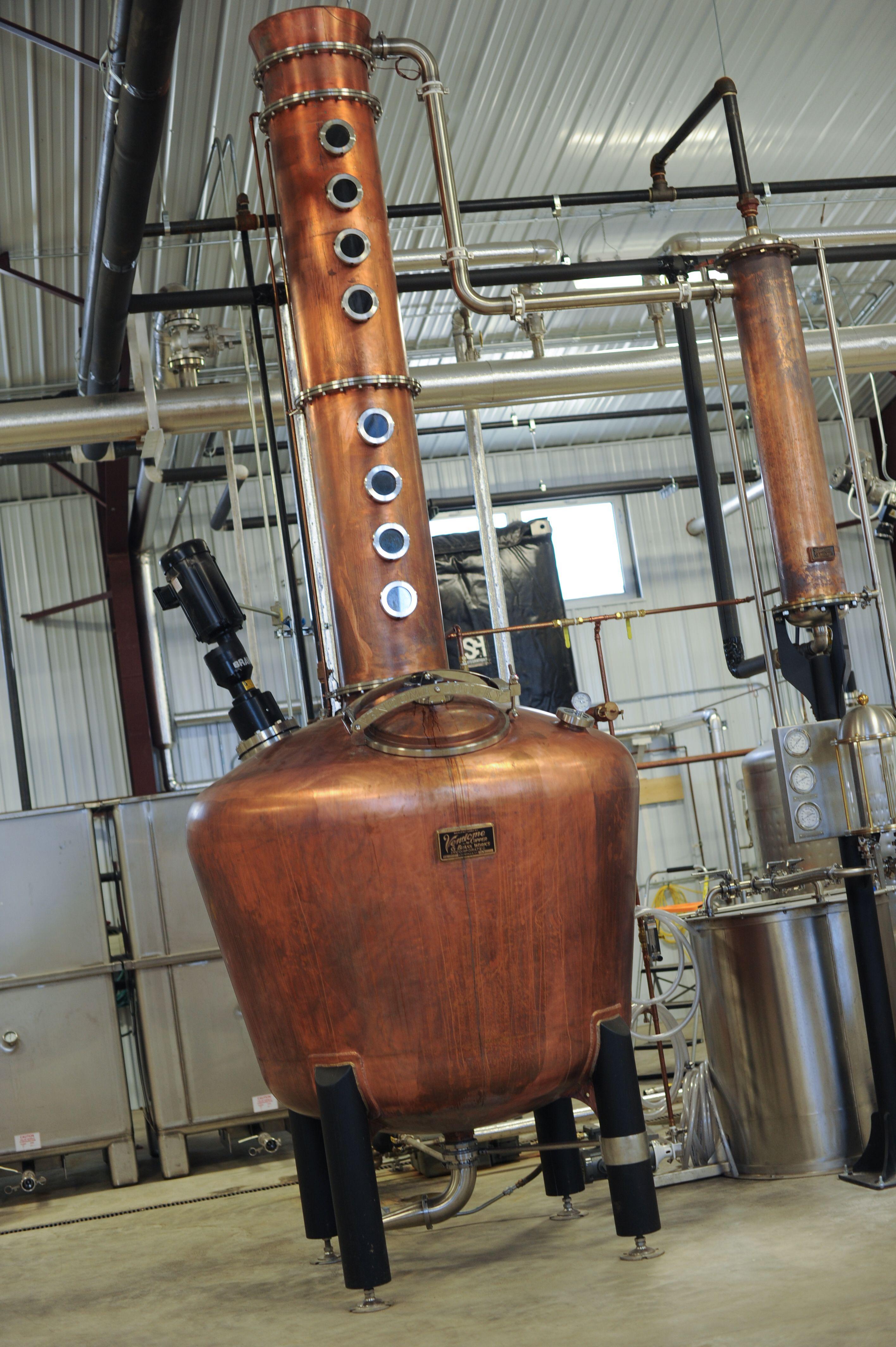 Fritz, our 500-gallon copper pot still from Vendome