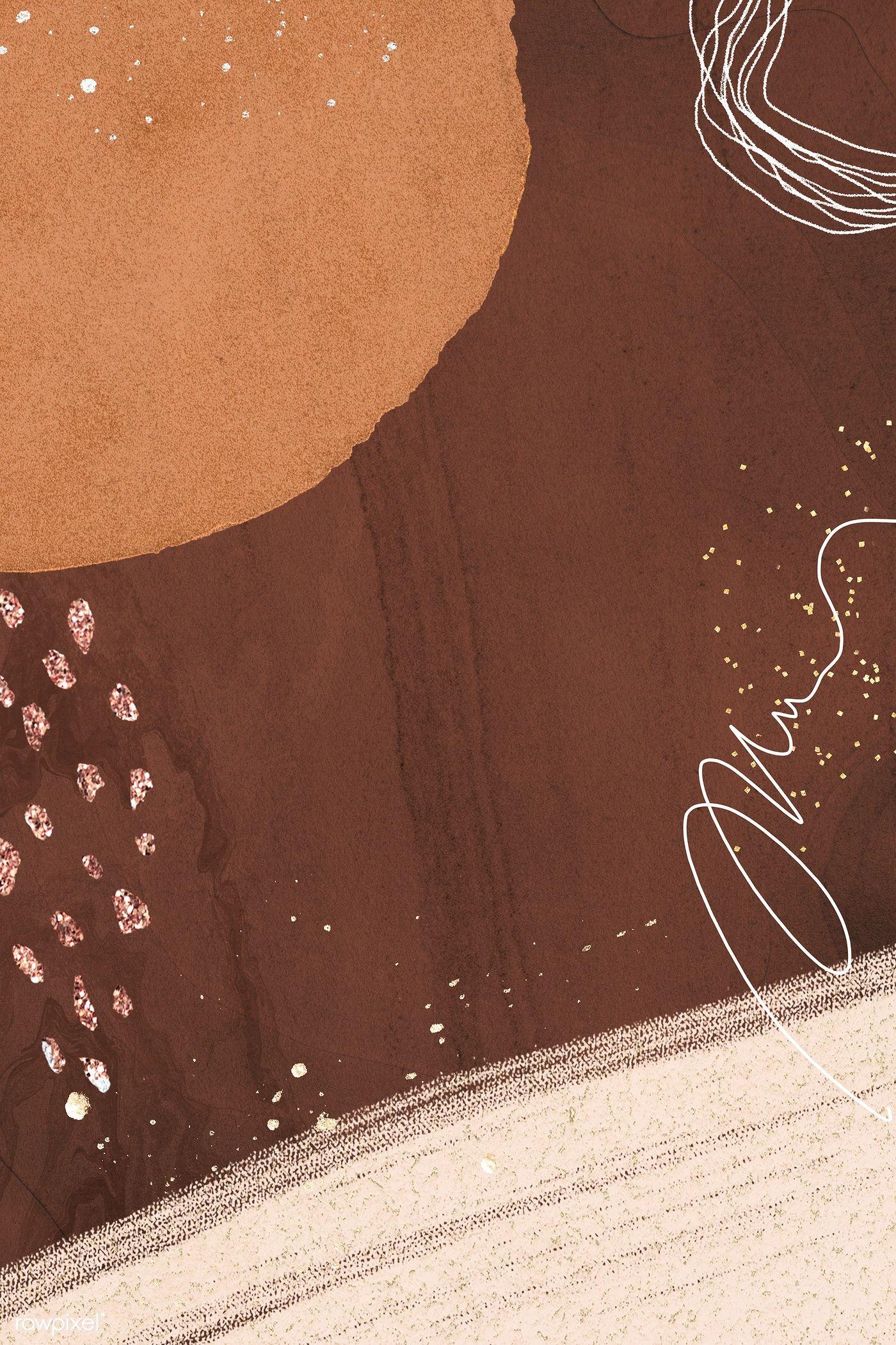 premium illustration of brown tone neo