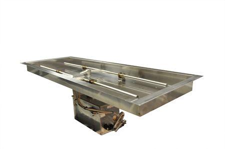Rectangle Bowl Pan Fire Pit Insert Electronic Ignition Hpc Gas Fire Pit Insert Fire Pit Insert Gas Firepit