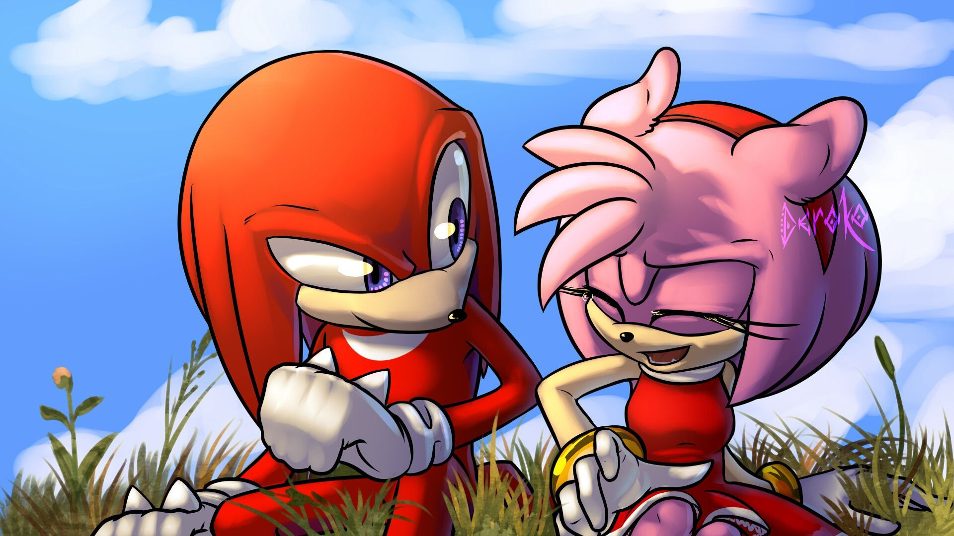 amy rose in love with knuckles!! sonic comic dub animation compilation - HD 1920×1080
