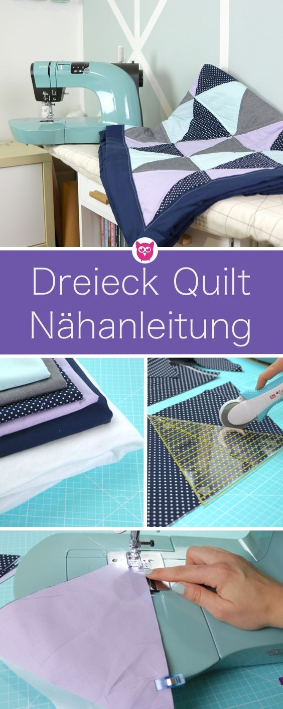 dreieck quilt n hen patchworken f r anf nger in dieser videoanleitung geht es um eine. Black Bedroom Furniture Sets. Home Design Ideas