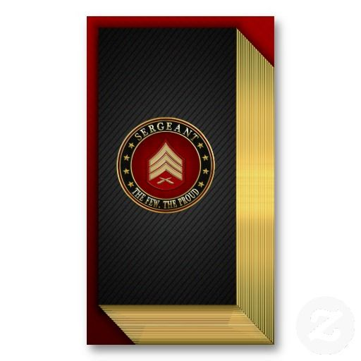 Sergeant Sgt Business Card Templates Military Police - Police business cards templates