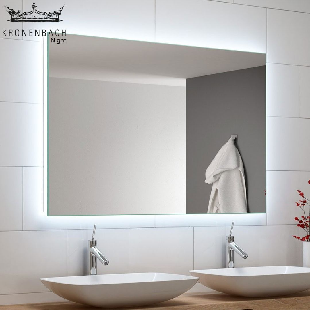 Inspiriert Von Einem Klaren Offenen Sternenhimmel Wurden Die Kronenbach Night Badspiegel Nichts Sto Bathroom Mirror Bathroom Lighting Lighted Bathroom Mirror