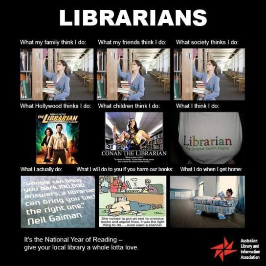 What My Friends Think I Do Librarians Librarian Humor Library