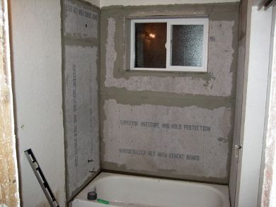 Re-tiling: install tub surround backerboard | For the Home ...