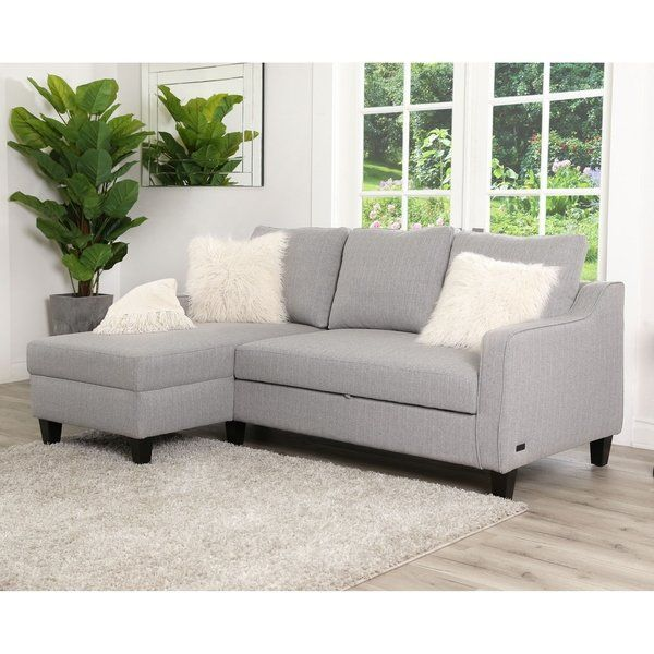 Shop Abbyson Haskell Grey Convertible Sofa Bed - On Sale ...