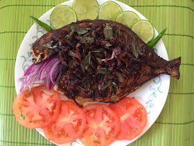 Kottayam Kitchen Grilled Fish Pomfret Avoli Meen Pollichathu In