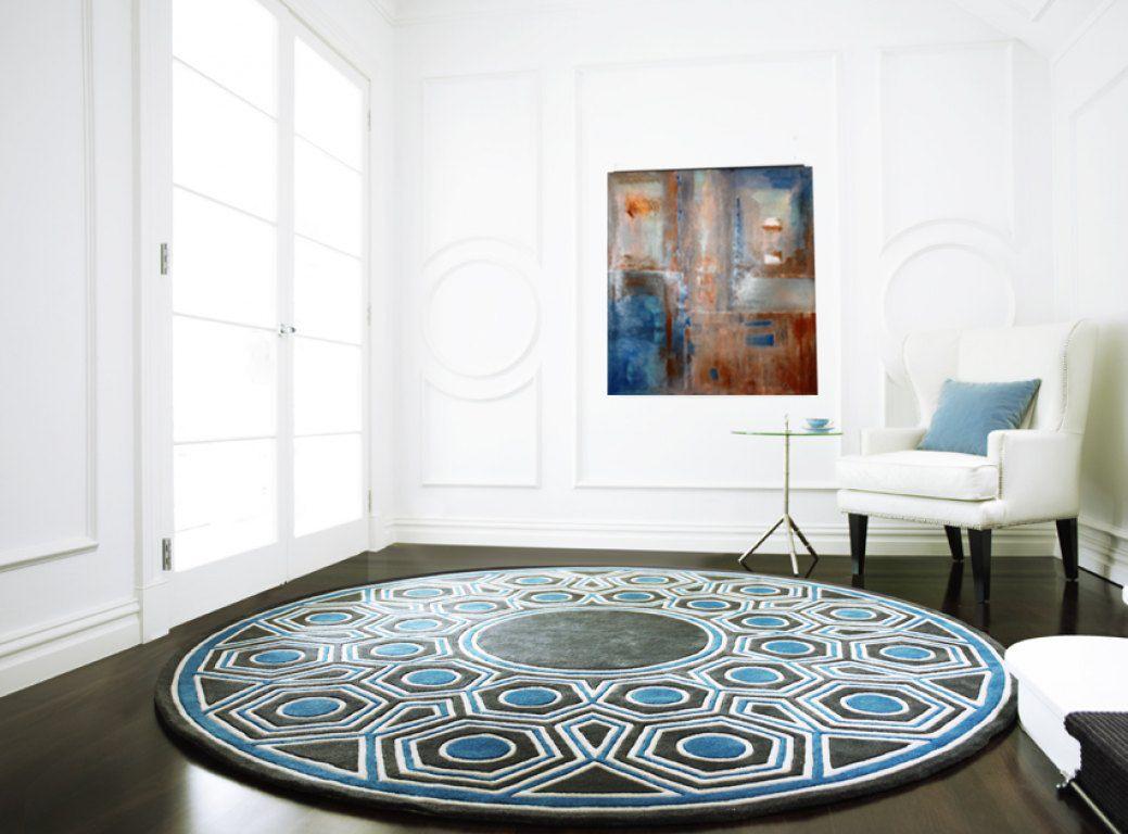 Rusty blue blue rust sienna white geometric original
