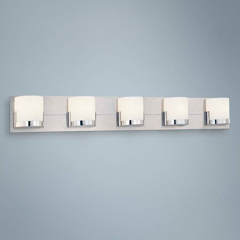 George Kovacs Convex 36 3 4 Wide Bathroom Wall Light P6977 Lamps Plus Bathroom Wall Lights Wall Lights Bathroom Wall