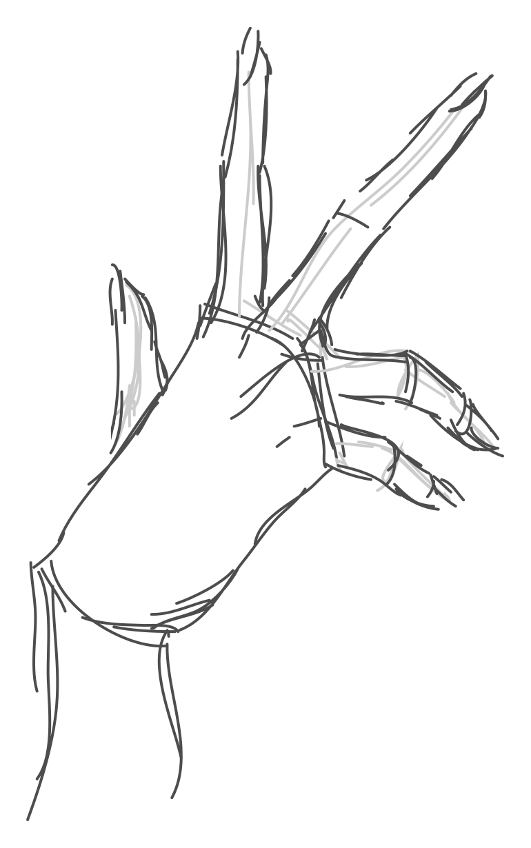 How to draw a woman's hand. Sketching. Step by step