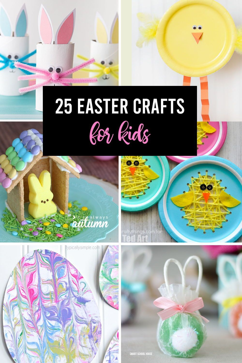 Click through for 25 adorable Easter crafts for kids. These are easy crafts your kids can make with simple items.