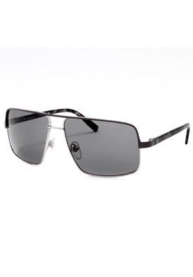 (Limited Supply) Click Image Above: Winnetka Aviator Sunglasses: Matte Gray-silver-black Crystal/gray