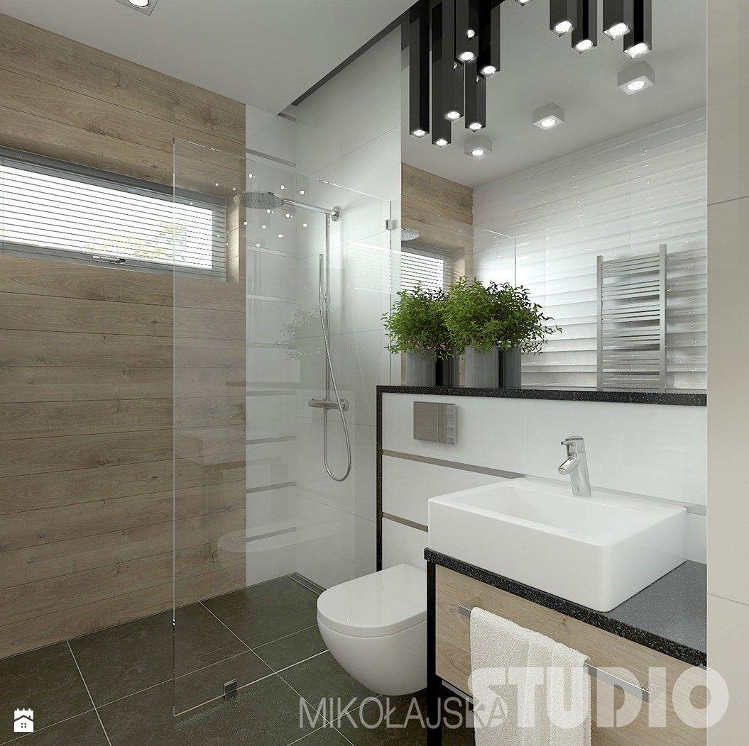 Mała łazienka w stylu skandynawskim - zdjęcie od MIKOŁAJSKAstudio - Łazienka - Styl Skandynawski - MIKOŁAJSKAstudio
