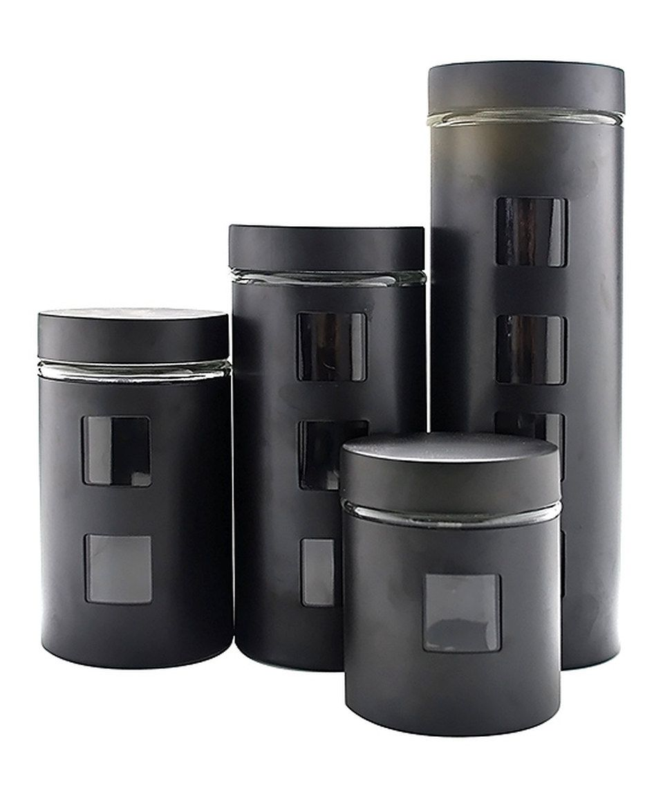 Zulily Glass Canister Set Stainless Steel Canister Set Stainless Steel Canisters Stainless steel kitchen canister sets