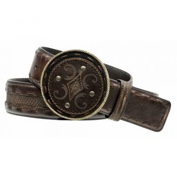6e4d15dc4de CINTURON CUADRA ~ Cinto grabado con tejido a mano y Piel genuina de Lizard