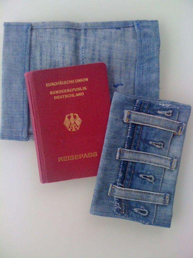 Reisepasshülle aus Denim, Unikate aus Jeans