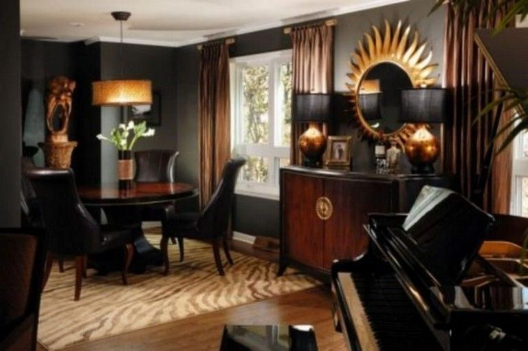 37 Elegant Black And Gold Dining Room Ideas For Inspiration is part of Elegant Living Room Gold - It is fairly straightforward to do a compatible mix of colors and a relaxed …