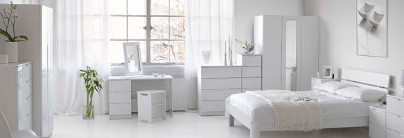 White Gloss Bedroom Furniture Is The Right Choice For Your To Feel Peace Relax And Purity It Gives A Special Touch Of Elegance That