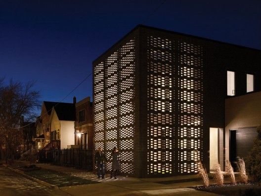 Studio gang architects brick weave house chicago beautiful transparent light brick wall