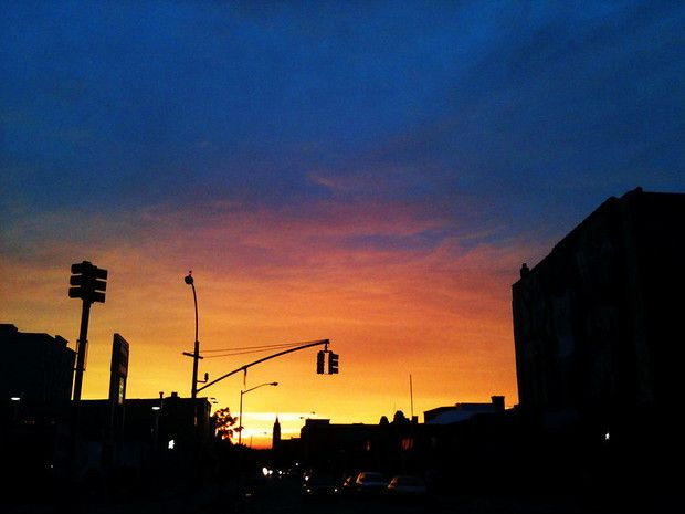 A Brooklyn Sunset from 4th Avenue in Park Slope.