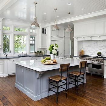 Calacatta Oro Marble, Transitional, kitchen, Salvatore Caruso Design ...