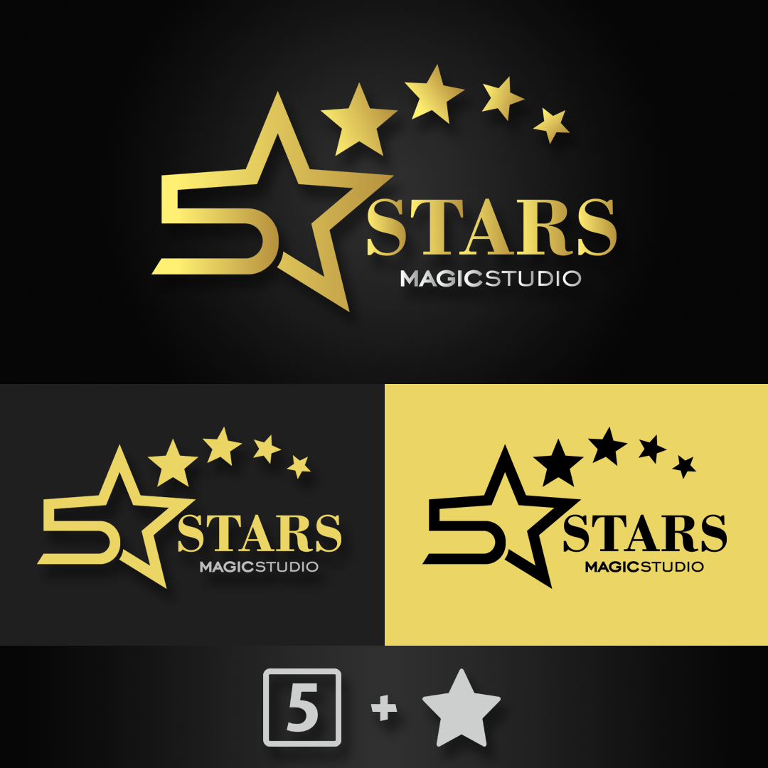 Five Stars Logo Star Logo Photo And Video Calm Artwork