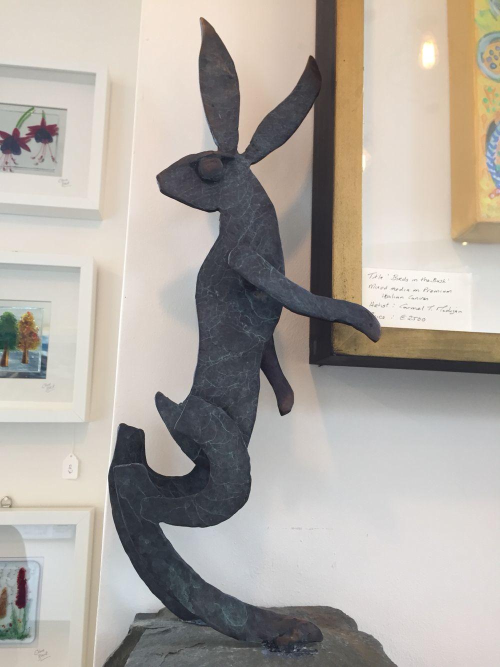 Seamus Connoly Bronze Hare sold. Animals, Dinosaur