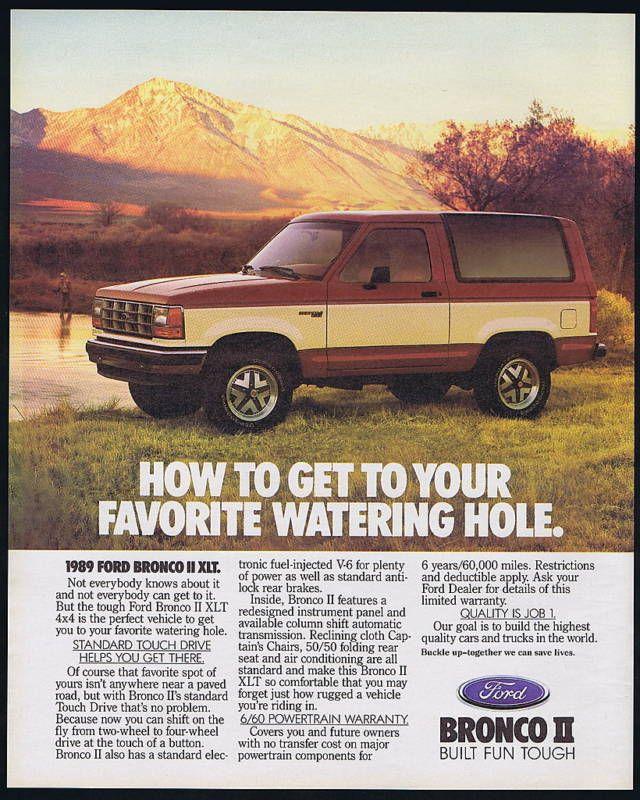 1989 Ford Bronco Ii Xlt 4 Suv Truck Print Ad Ebay Ford Bronco Ii Bronco Ii Ford Bronco