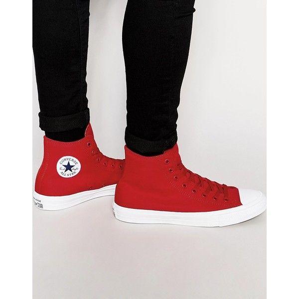 mejores zapatillas de deporte el más baratas seleccione para oficial Converse Chuck Taylor All Star II Hi-Top Plimsolls In Red 150145C ...