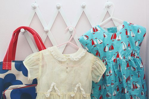 Cute way to make use of closet wall space in nursery.