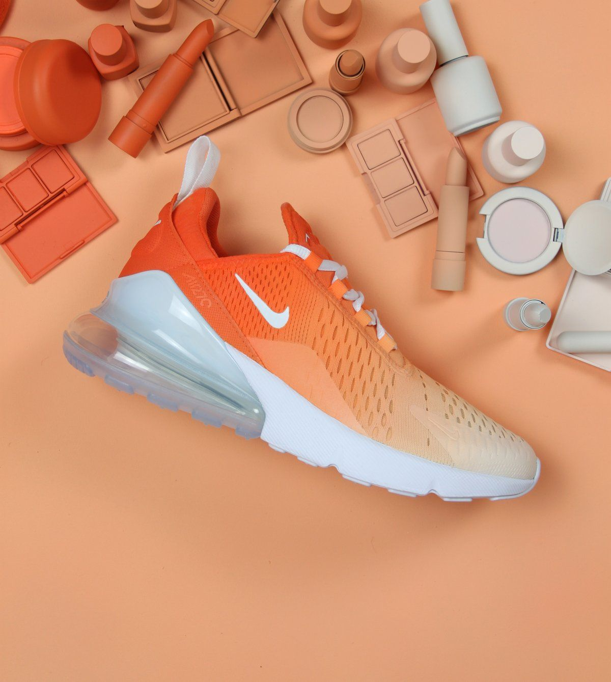 huge selection of b5570 b4ff1 Explore Our Custom Ombre Air Max 270 Orange Nike Shoes. If You Are Looking  For