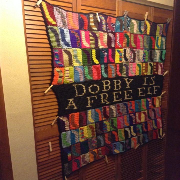 Dobby is a Free Elf Afghan | Manta y Deberes