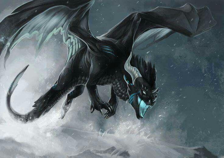 口を大きく開けて飛んでるドラゴンの壁紙