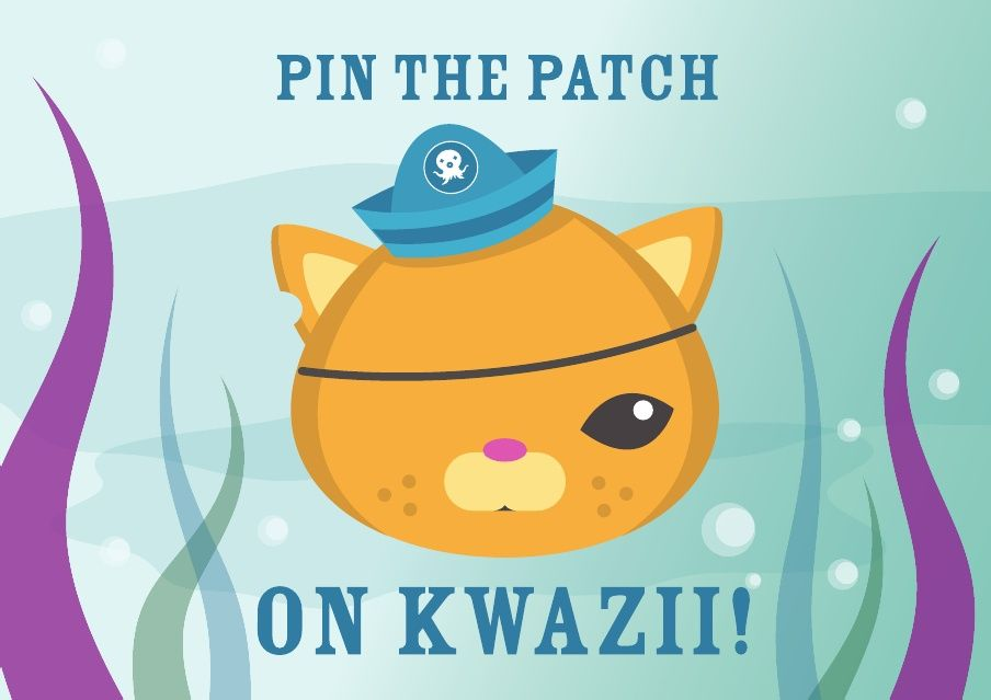 Pin the Patch on Kwazii - printable | Octonauts Birthday Party Ideas ...