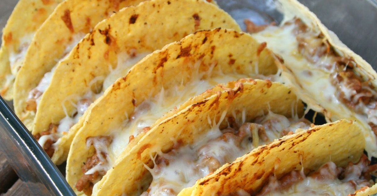 These easy cheesy oven tacos guarantee taco night will never be the same