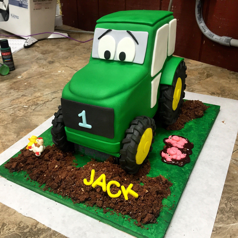Tractor Cake For My Nephews 1st Birthday Traktor Kuchen Geburtstag Torte Kuchen