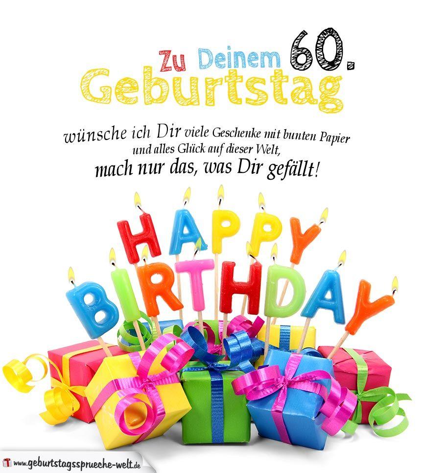Geburtstag wunsche fur 60