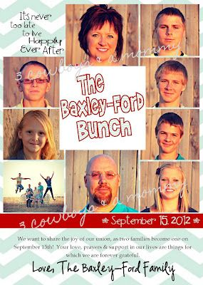 Blended Family Wedding Annoucement. Totally need to get a