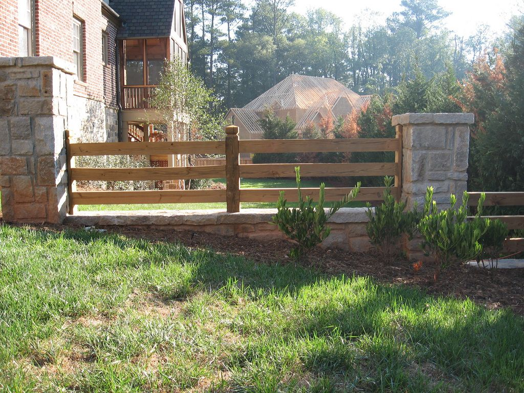 Stone Columns Add A Beautiful Touch To Your Split Rail