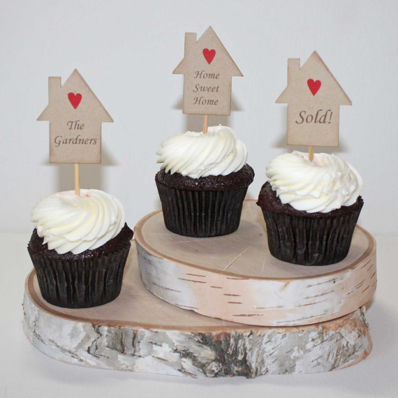 New Home Cake Decorations   Housewarming Cupcake Toppers Housewarming Party Cake Picks New